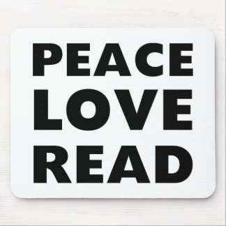 Amor de la paz leído tapete de ratones