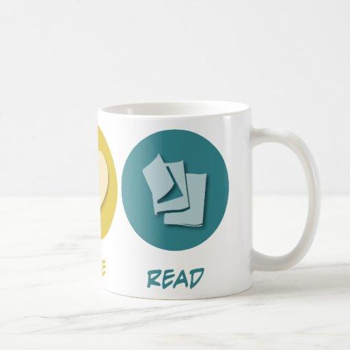 Amor de la paz leído taza básica blanca