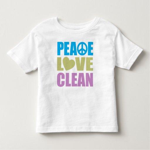 Amor de la paz limpio playeras