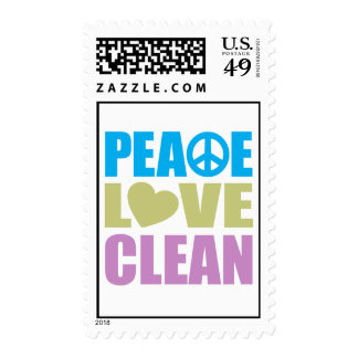 Amor de la paz limpio sellos