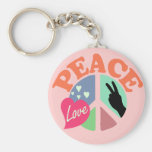 Amor de la paz llaveros