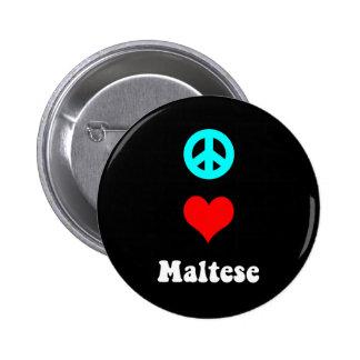 Amor de la paz maltés pins
