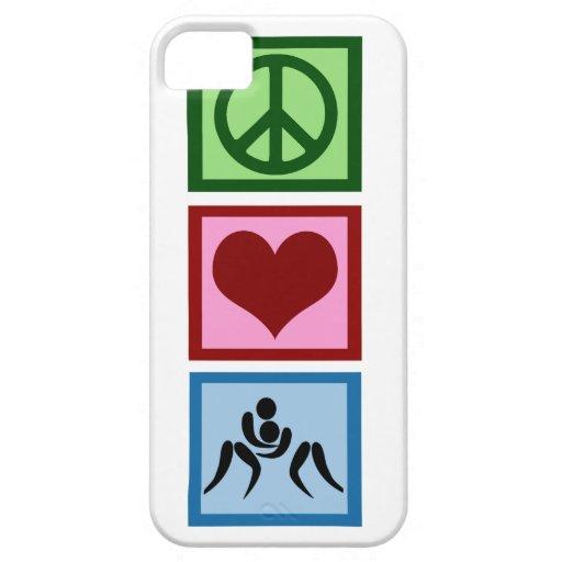 Amor de la paz que lucha iPhone 5 protectores