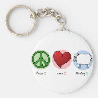 Amor de la paz que reúne llavero