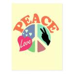Amor de la paz tarjeta postal