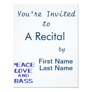 """amor de la paz y bernice blue.png del bajo invitación 4.25"""" x 5.5"""""""