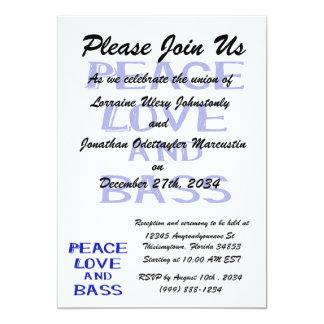 """amor de la paz y bernice blue.png del bajo invitación 5"""" x 7"""""""