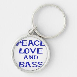 amor de la paz y bernice blue.png del bajo llavero personalizado