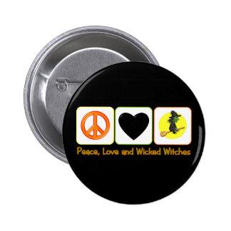 Amor de la paz y brujas traviesas pin