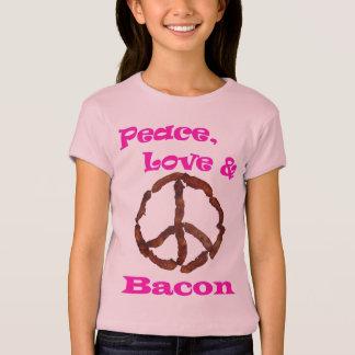 Amor de la paz y camiseta 1.jpg del tocino camisas