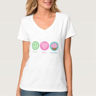Amor de la paz y camiseta de las magdalenas playera