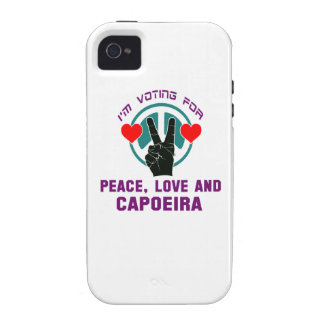 Amor de la paz y Capoeira. Vibe iPhone 4 Carcasas