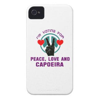 Amor de la paz y Capoeira. iPhone 4 Case-Mate Cobertura