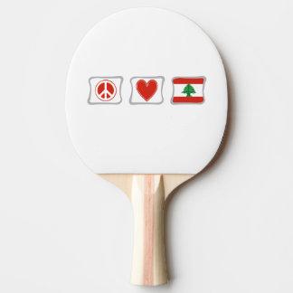 Amor de la paz y cuadrados de Líbano Pala De Ping Pong