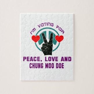 Amor de la paz y gama del MOO de Chungkin Puzzle