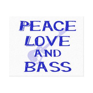 amor de la paz y guitarra azul del bernice w del impresiones de lienzo