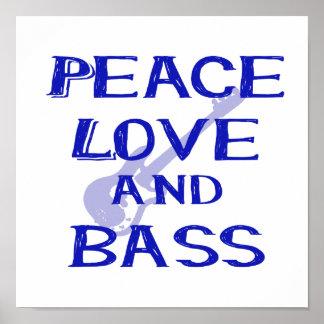 amor de la paz y guitarra azul del bernice w del póster