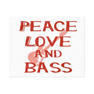 amor de la paz y guitarra roja del bernice w del impresion de lienzo