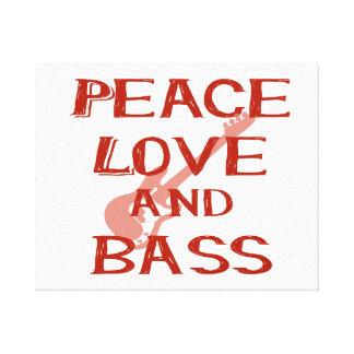 amor de la paz y guitarra roja del bernice w del impresiones en lienzo estiradas