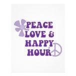 Amor de la paz y hora feliz membrete
