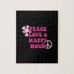 Amor de la paz y hora feliz puzzles con fotos