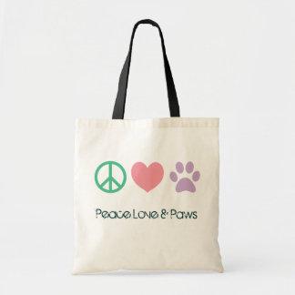 Amor de la paz y la bolsa de asas de las patas