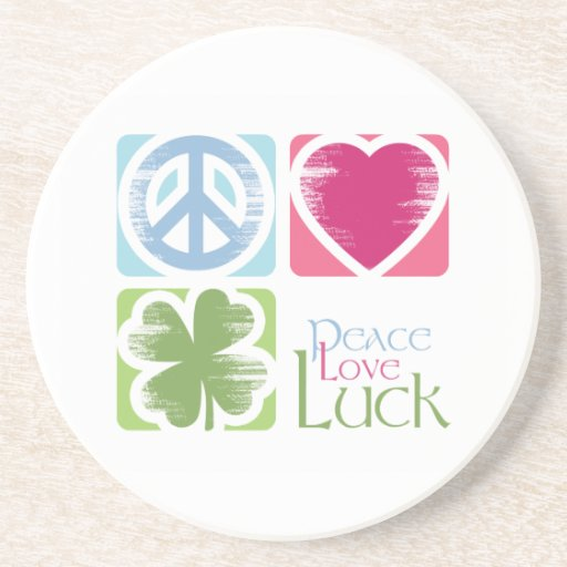 Amor de la paz y práctico de costa irlandés de la posavasos manualidades