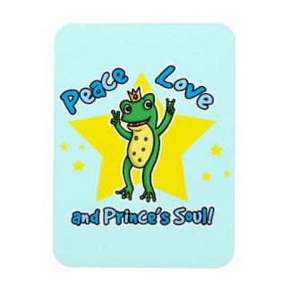 Amor de la paz y príncipe de la rana del alma de l imán flexible