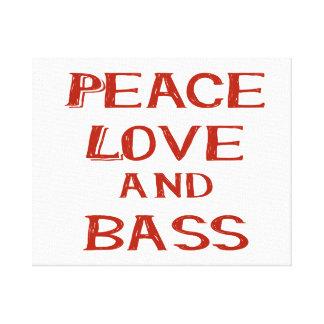 amor de la paz y rojo del bernice del bajo lienzo envuelto para galerías