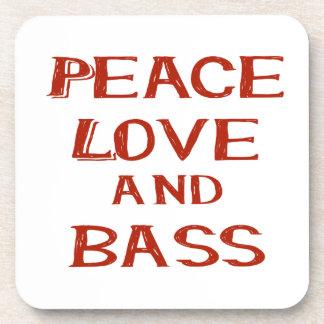 amor de la paz y rojo del bernice del bajo posavaso