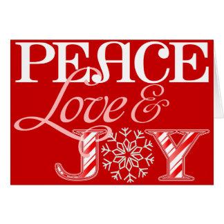Amor de la paz y tarjeta de felicitación del día d