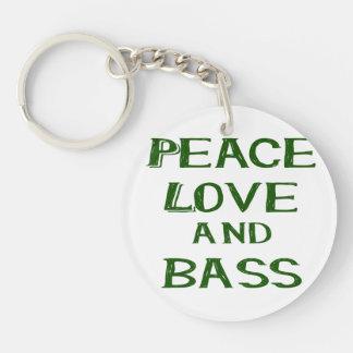 amor de la paz y verde del bernice del bajo llavero