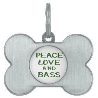 amor de la paz y verde del bernice del bajo placas mascota
