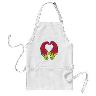 Amor de la pimienta de chile delantales