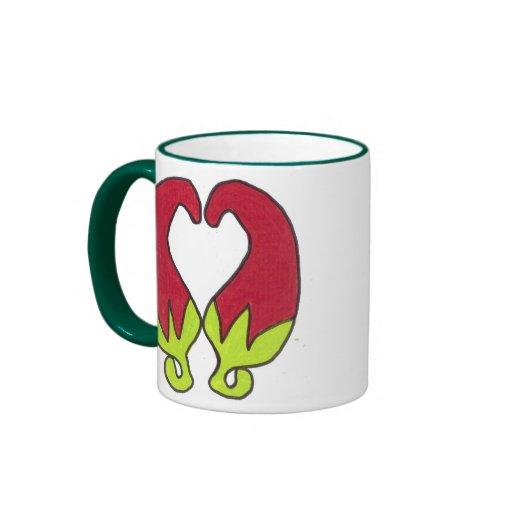 Amor de la pimienta de chile taza de dos colores