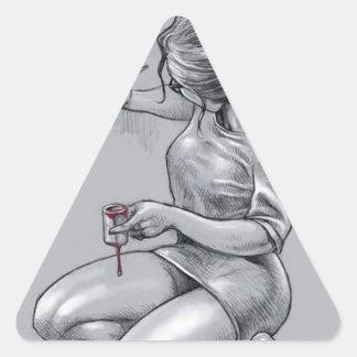 Amor de la pintura calcomanías triangulos personalizadas