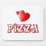 Amor de la pizza alfombrilla de ratón