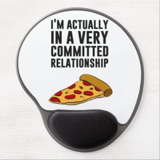 Amor de la pizza de salchichones - una relación se alfombrillas de raton con gel