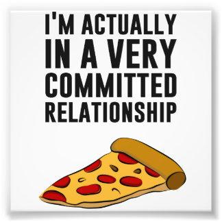 Amor de la pizza de salchichones - una relación se fotografías