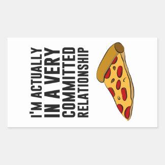Amor de la pizza de salchichones - una relación se rectangular altavoces