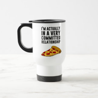 Amor de la pizza de salchichones - una relación se taza de café