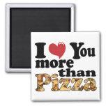 Amor de la pizza iman de frigorífico