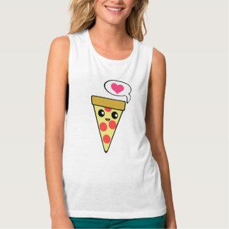 Amor de la pizza playera de tirantes anchos