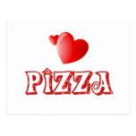 Amor de la pizza postales