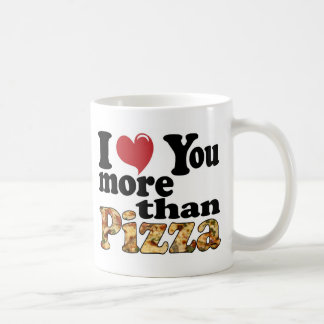 Amor de la pizza tazas de café