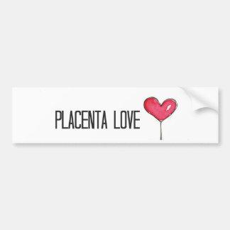 Amor de la placenta pegatina para auto