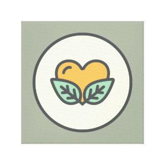 Amor de la planta impresiones en lona estiradas