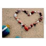Amor de la playa felicitación