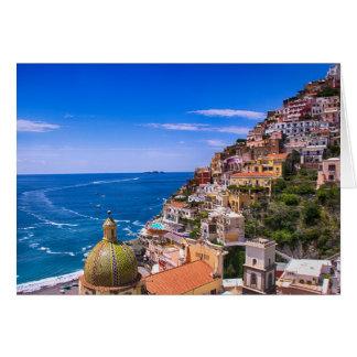 Amor de la postal de Positano Italia Tarjeta De Felicitación