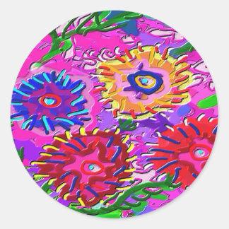 Amor de la primavera para usted - romance vibrante pegatina redonda